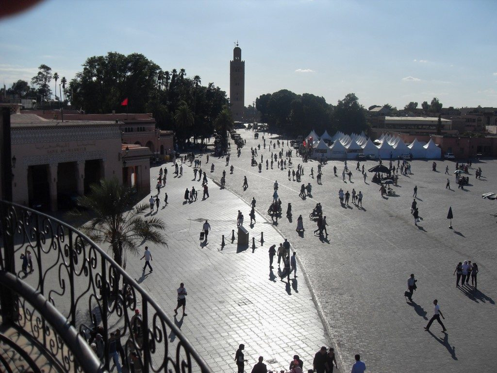 Vista sul Minareto della Koutoubia...