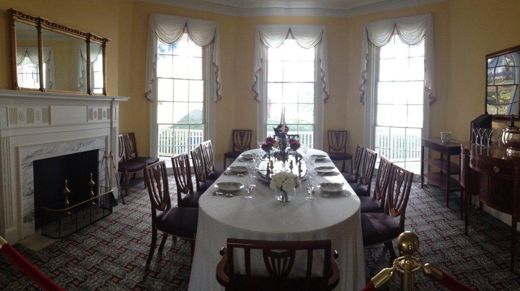 Hamilton Grange, la sala da pranzo