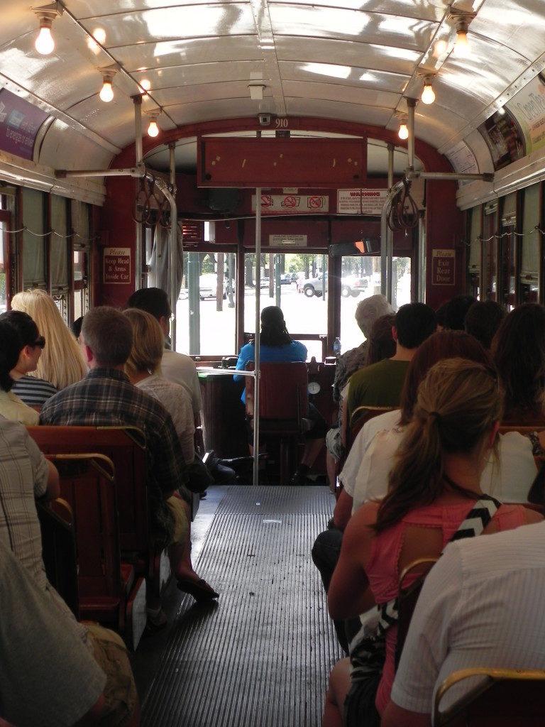 Una delle carrozze del tram di St. Charles
