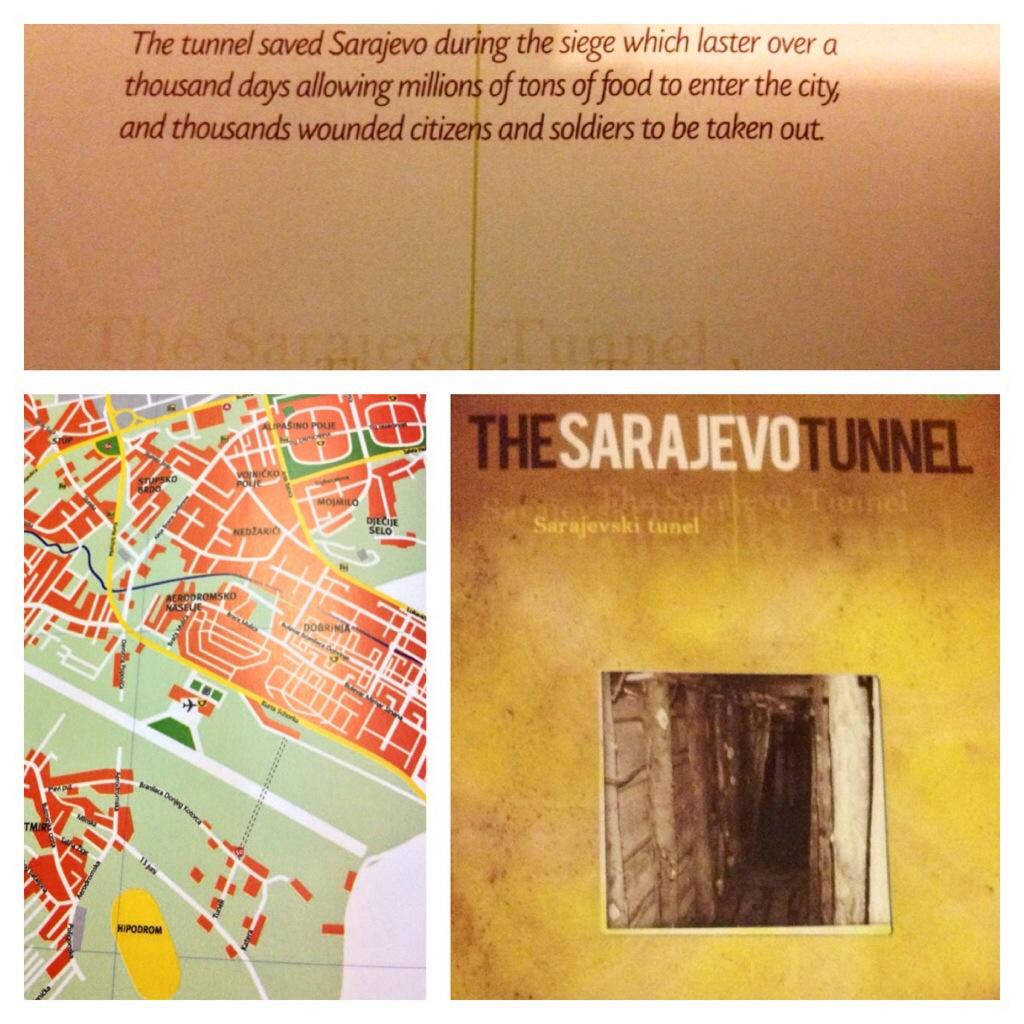L'opuscolo del museo del Tunnel