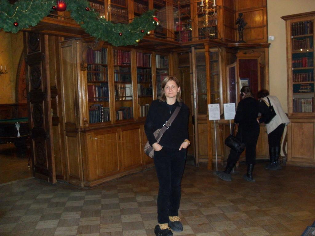 La biblioteca di palazzo Jusupov