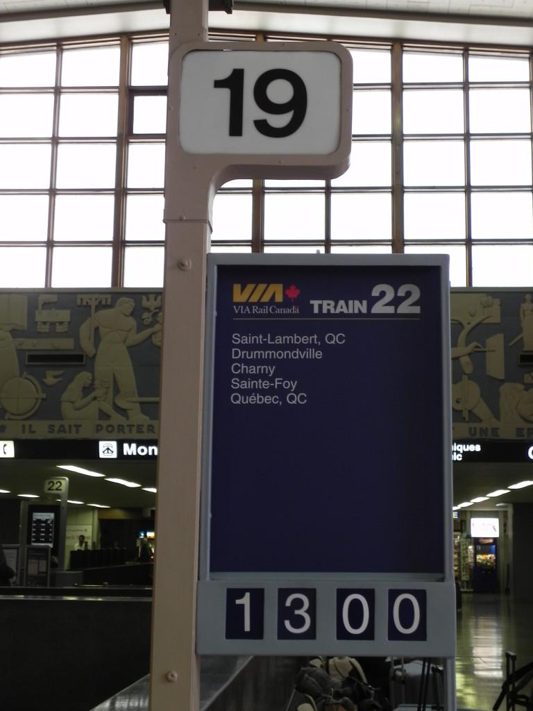 In partenza per Québec