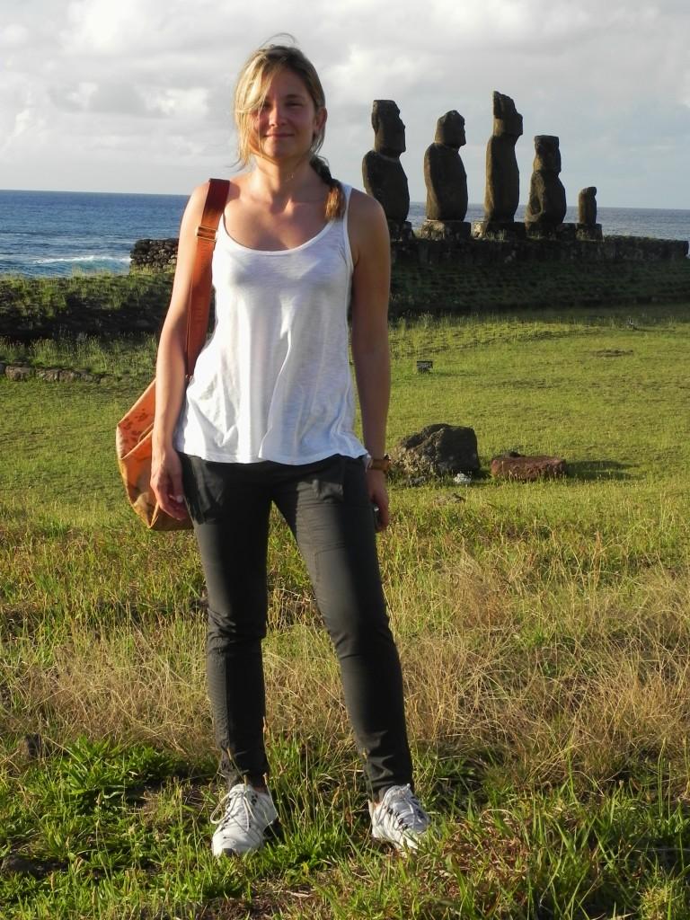 Il mio primo tramonto a Rapa Nui