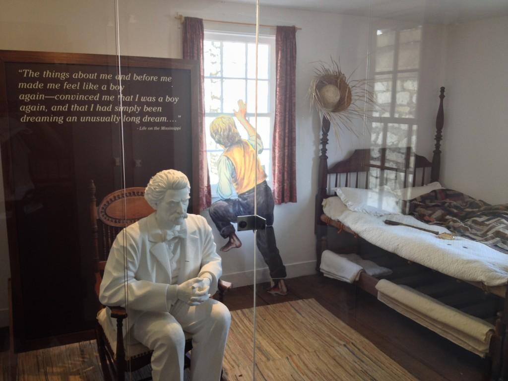 La camera da letto di mark Twain/Tom Sawyer, facile confondere la realta' con la fantasia