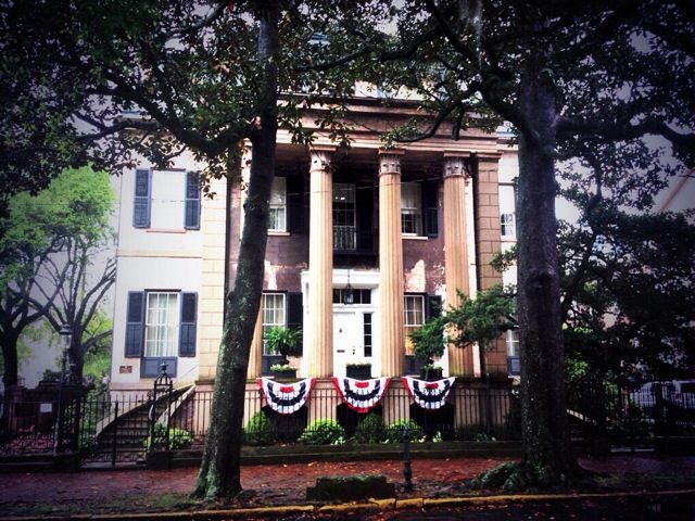 Una delle splendide dimore antebellum di Savannah