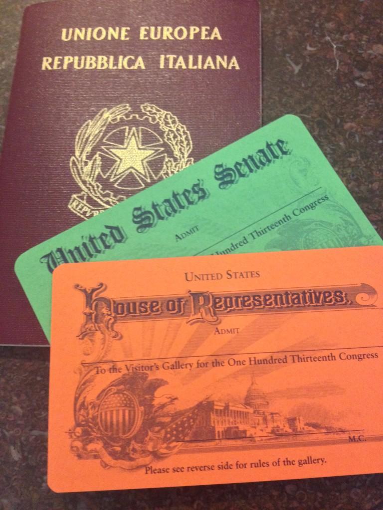 US. Capitol... i miei Pass per il Senato e la Camera dei Rappresentanti!!