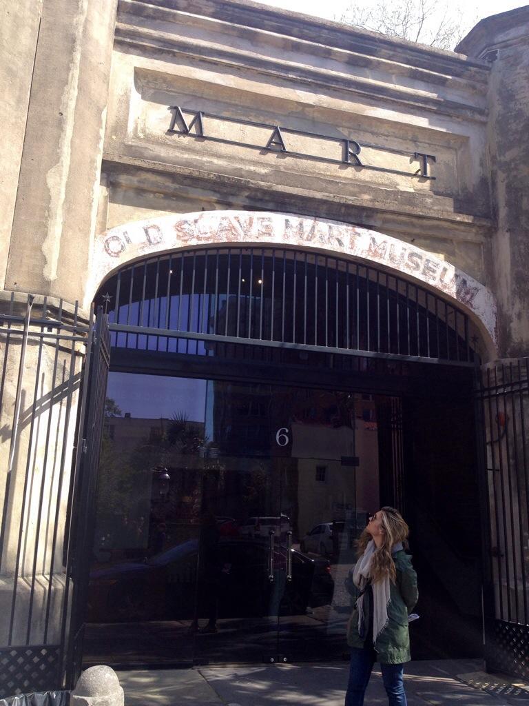 L'ingresso dell'Old Slave Mart Museum