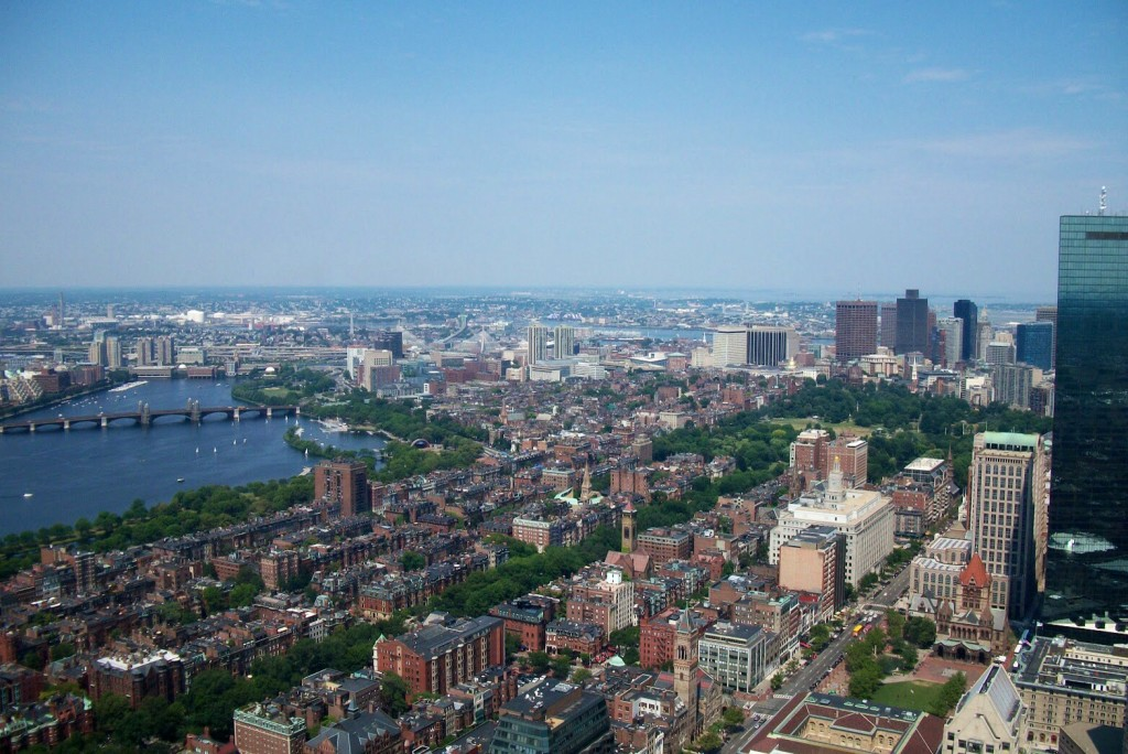 Vista su Boston dalla Prudential Tower