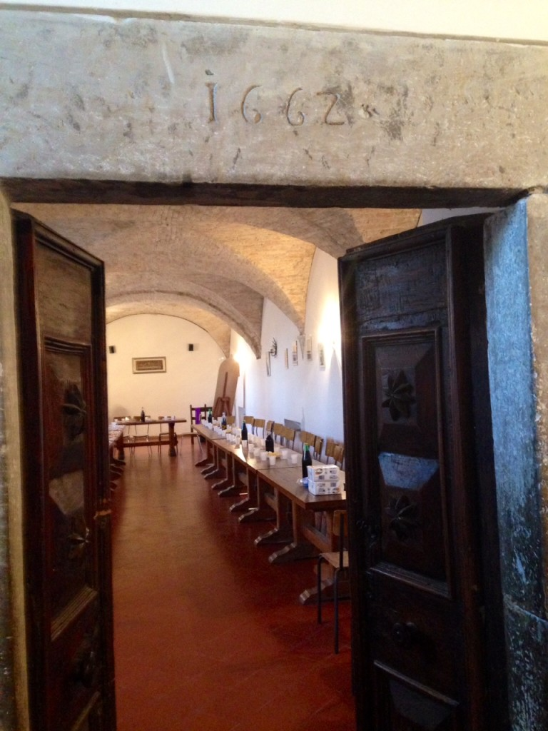L'antico refettorio del Convento di Montefiorentno