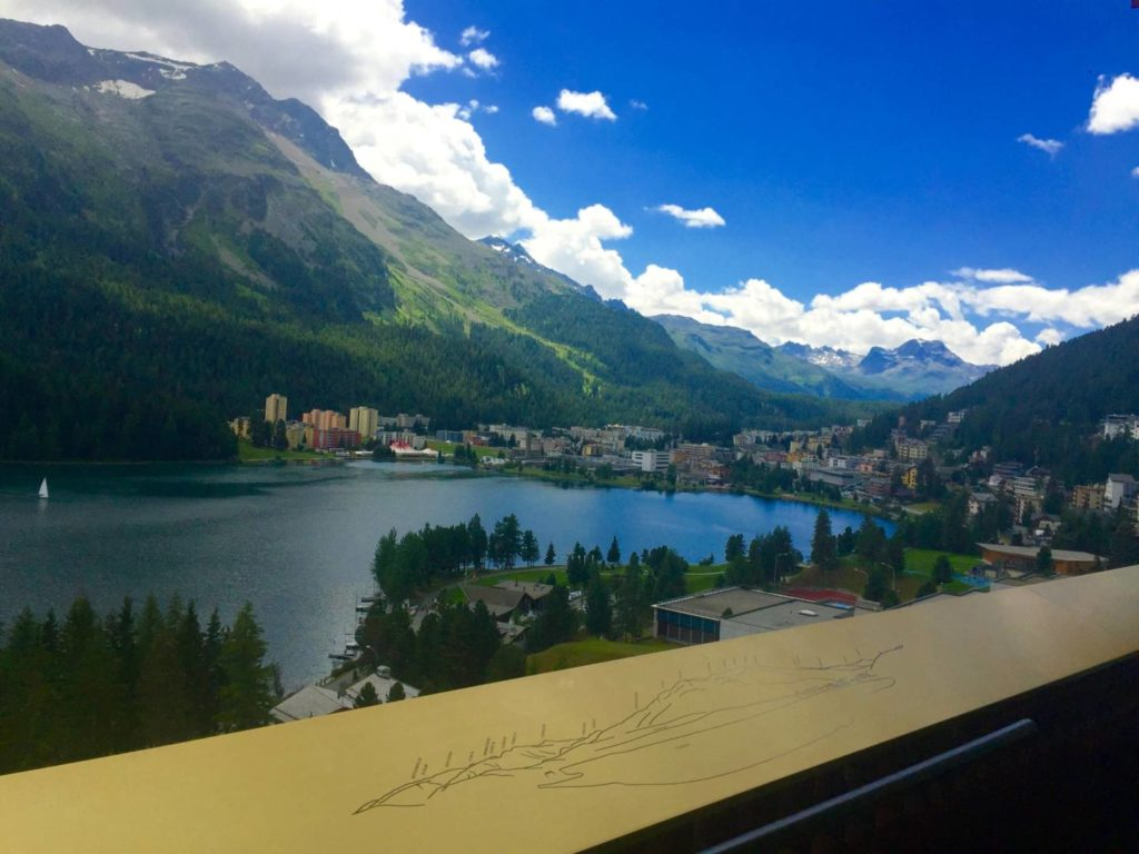 Badrutt's Palace Hotel, room with a view of the St. Moritz Lake