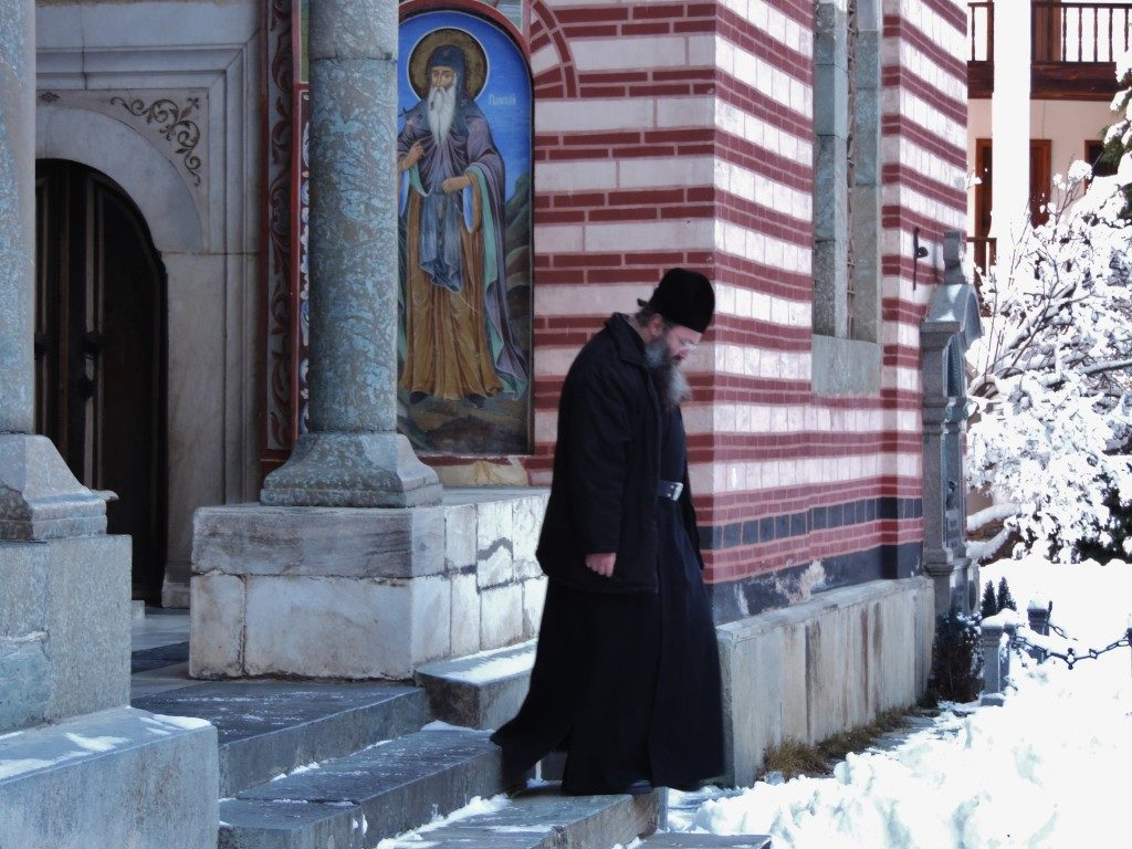 The Rila Monastery, a monk