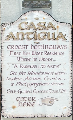 Casa Antigua, Hemingway's first house in Key West, schedules and visits