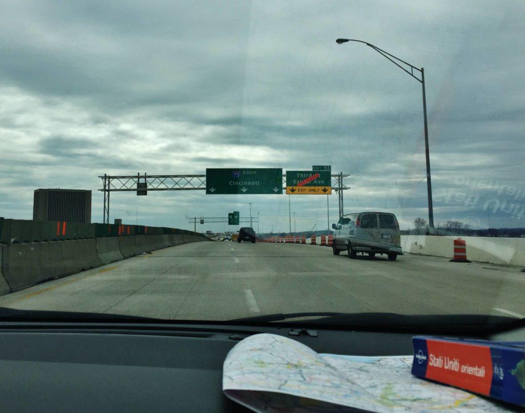 Verso Cincinnati, Ohio
