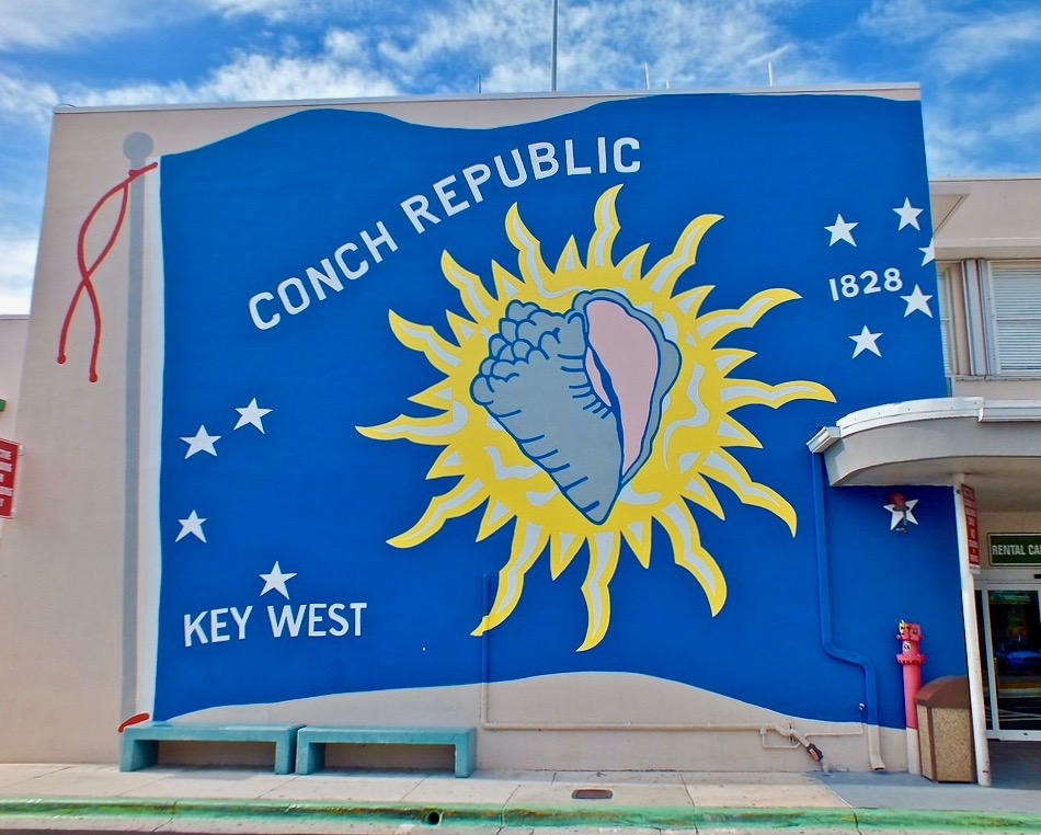 "Things to do in Key west: the Conch Republic ""official"" flag"