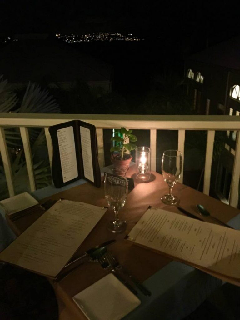 What to see in St. John: dinner with a view at the Ocean 362