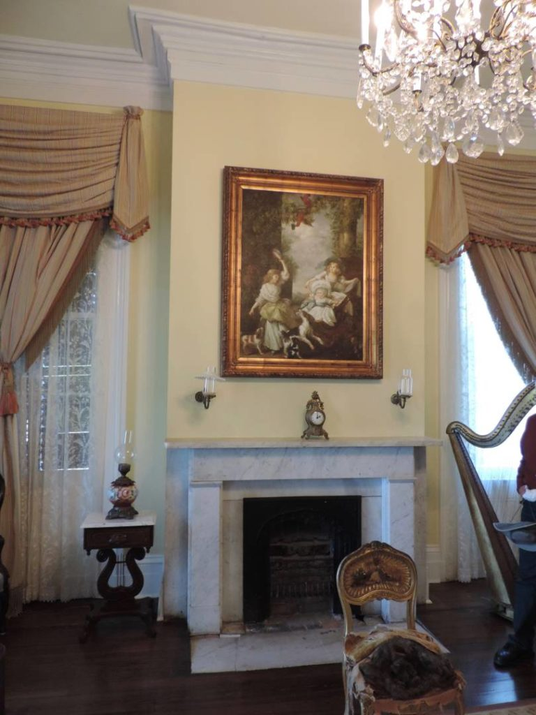 Nottoway plantation, one of the sitting rooms on the second floor