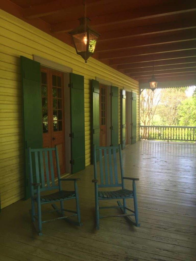 Laura Plantation, details of the wood veranda