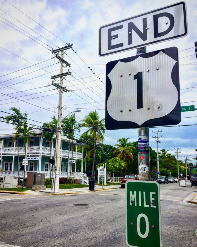 Key West, the end of the US 1, the Mile 0
