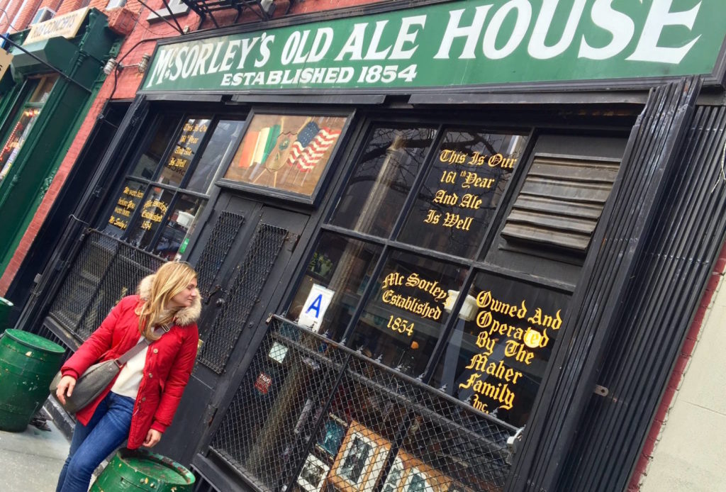 New York itineraries: McSorley's Old Ale House