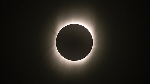The total solar eclipse