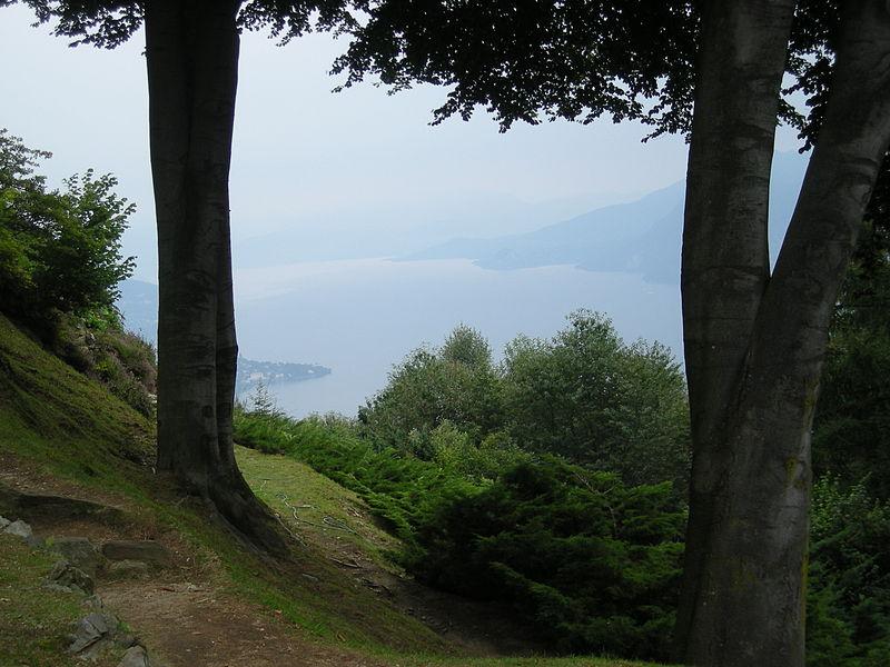 Giardino Botanico Alpinia, vista sul lago