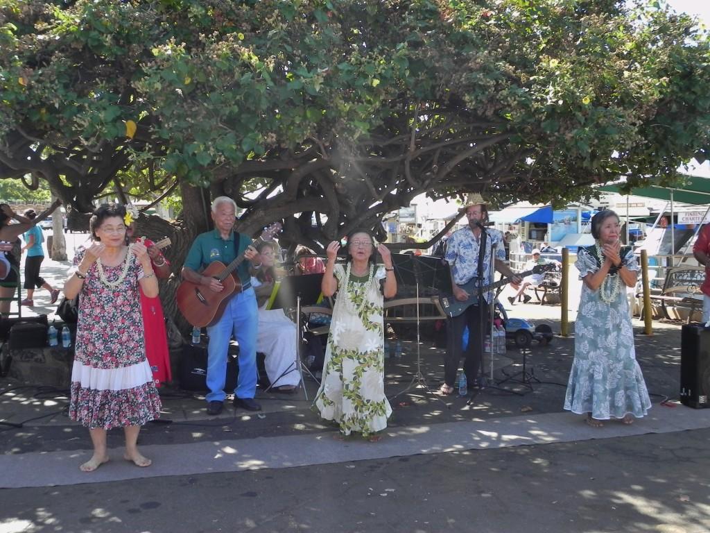 Accoglienza hawaiana a Lahina