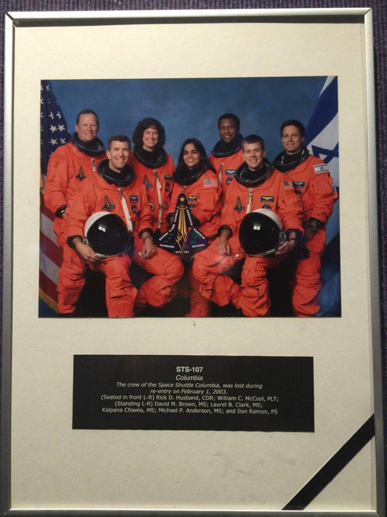 In memoria dell'equipaggio del Columbia, perso al rientro dallo spazio nel 2003