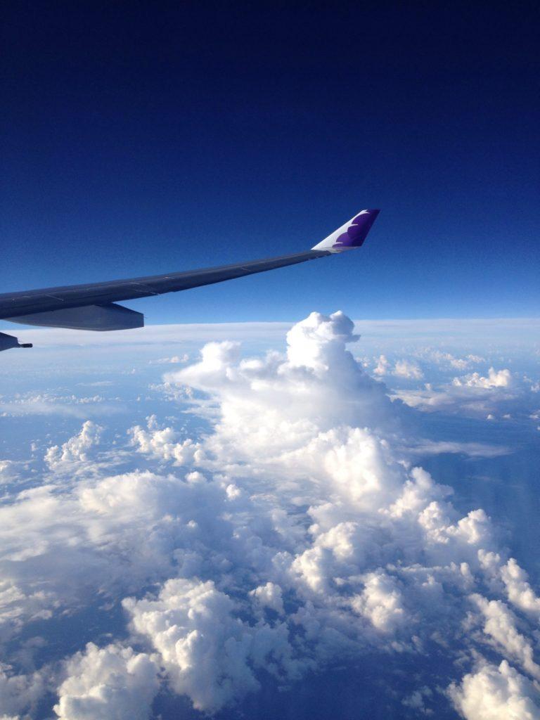 In volo dal Giappone verso le Hawaii