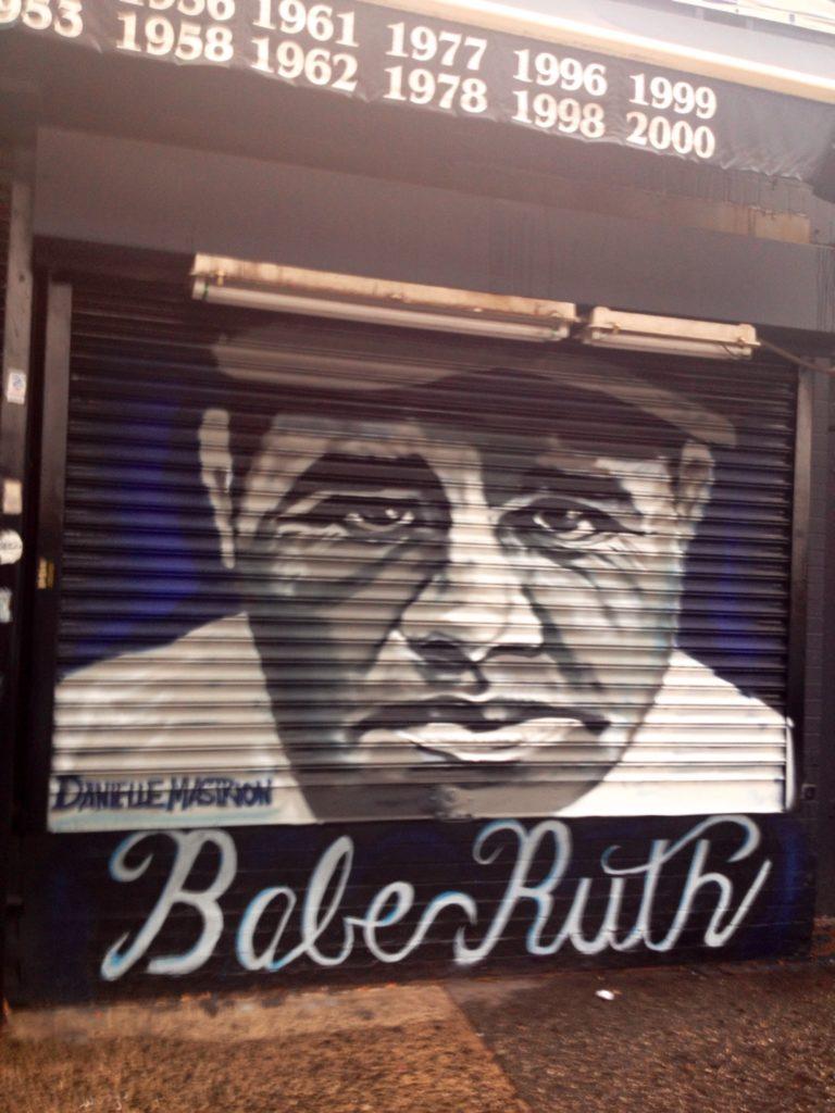 Bronx, street art. Il mitico Babe Ruth