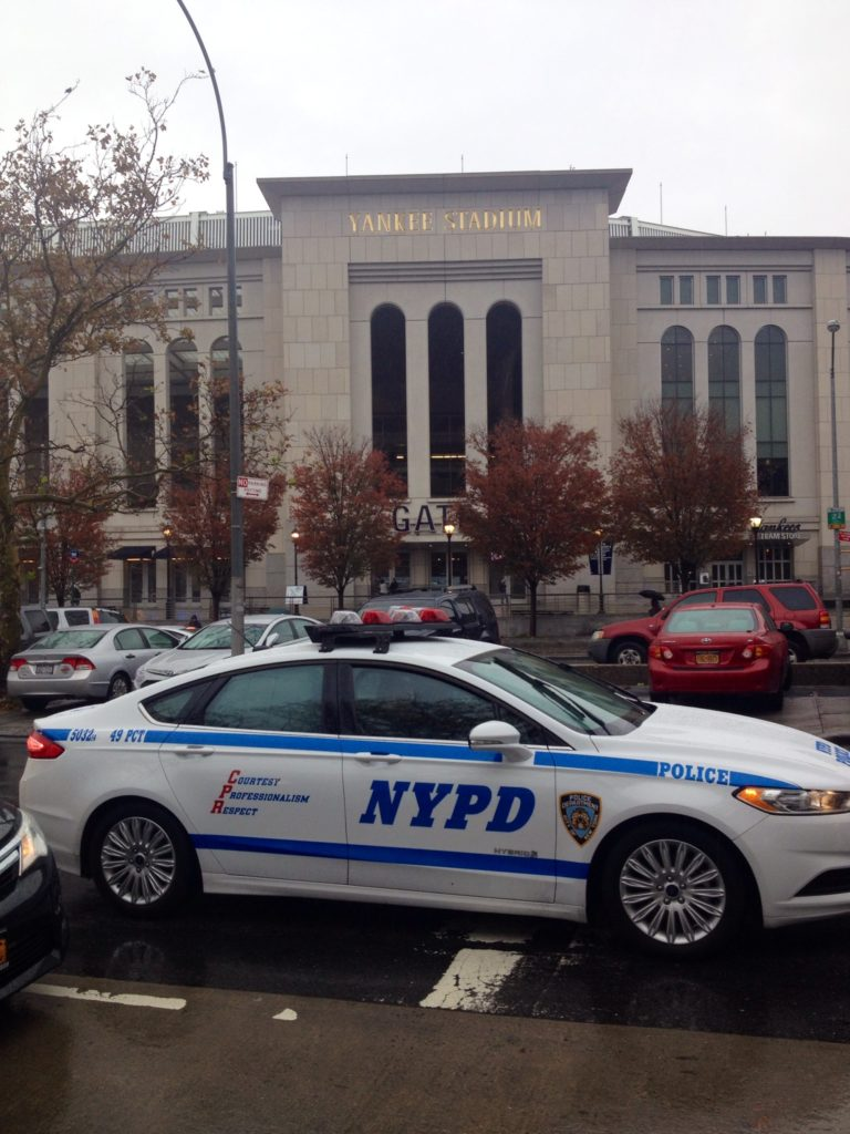 Security and controls near the Yankee Stadium