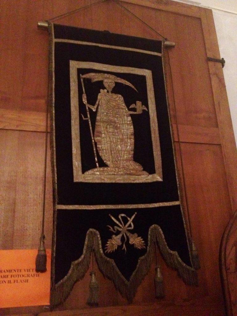 Drappi Funebri nella Cappella