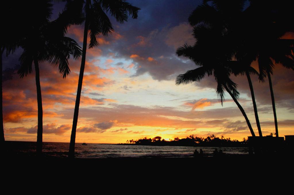 Kona Coast, tramonto sulla Ali Drive