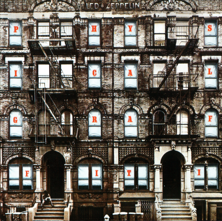 La copertina di Physical Graffiti dei Led Zeppelin