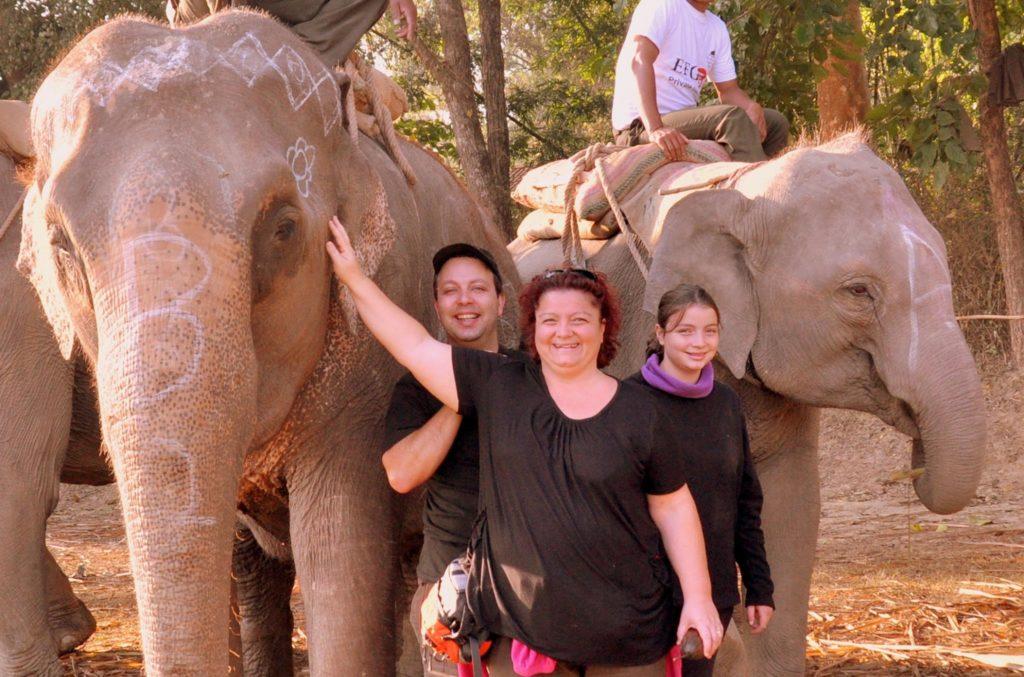 Liliana e la sua famiglia in Nepal