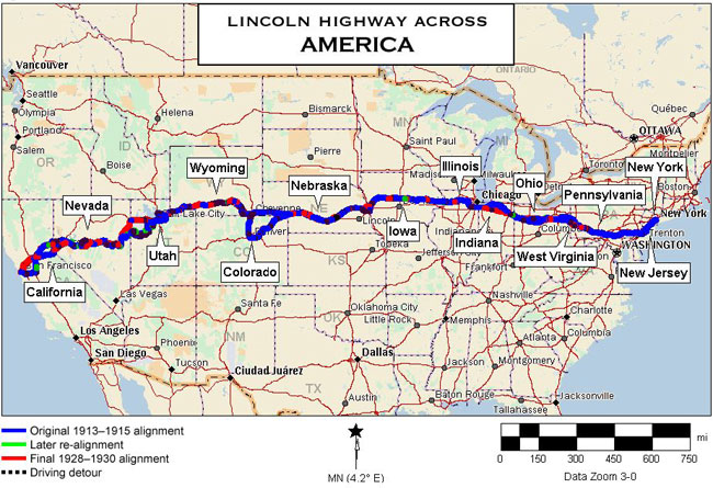 USA on the road: Lincoln Highway, il tragitto in 13 stati, incluso il West Virginia