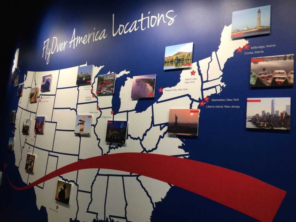 "FlyOver America, the ""journey"" legs"