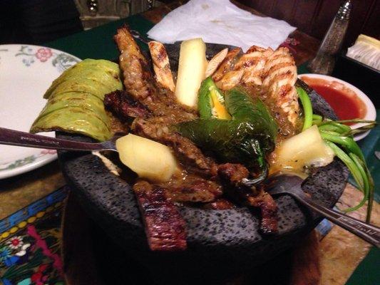 Molcajete, specialità dell'Old Mexican Cafè