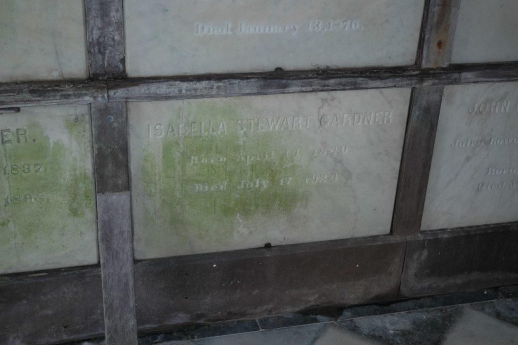 Il sepolcro di Isabella Stewart Gardner