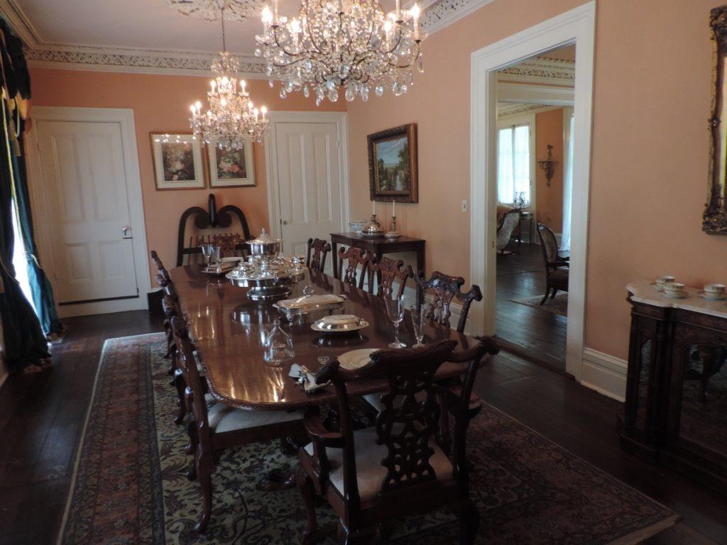 Myrtles Plantation, la sala da pranzo