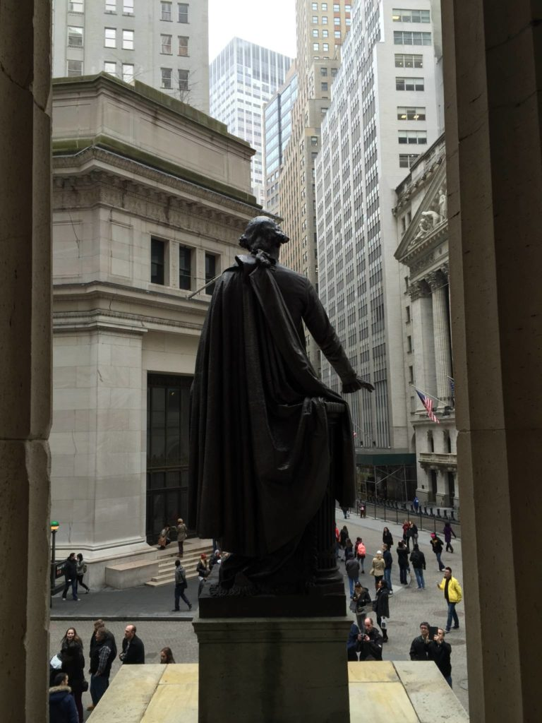 Unusual New York: Views of Wall Street from the Federal Hall National Monument