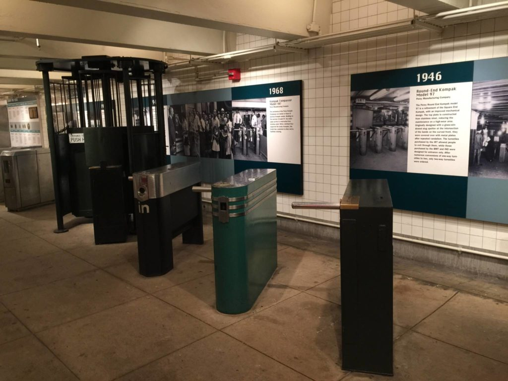 Ny Transit Museum, a few old admittance turnstiles