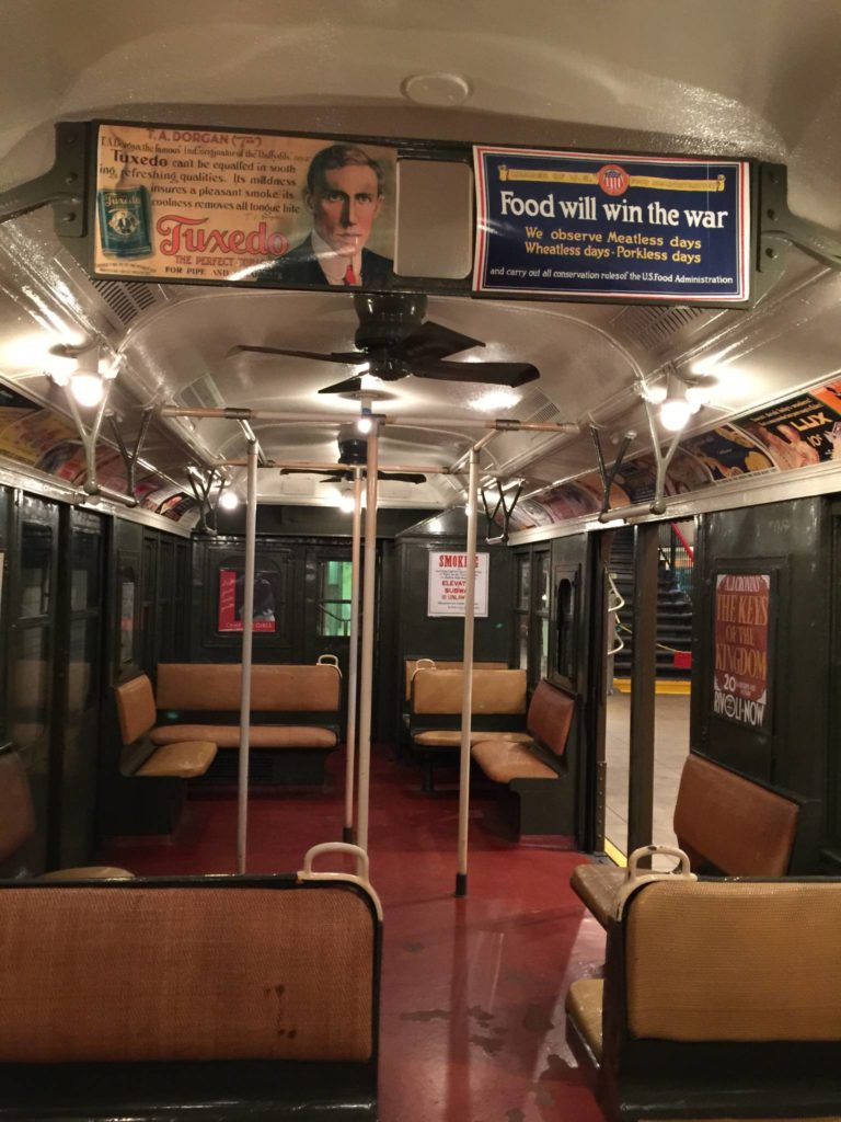 New York Transit Museum, car inside of the 1940s