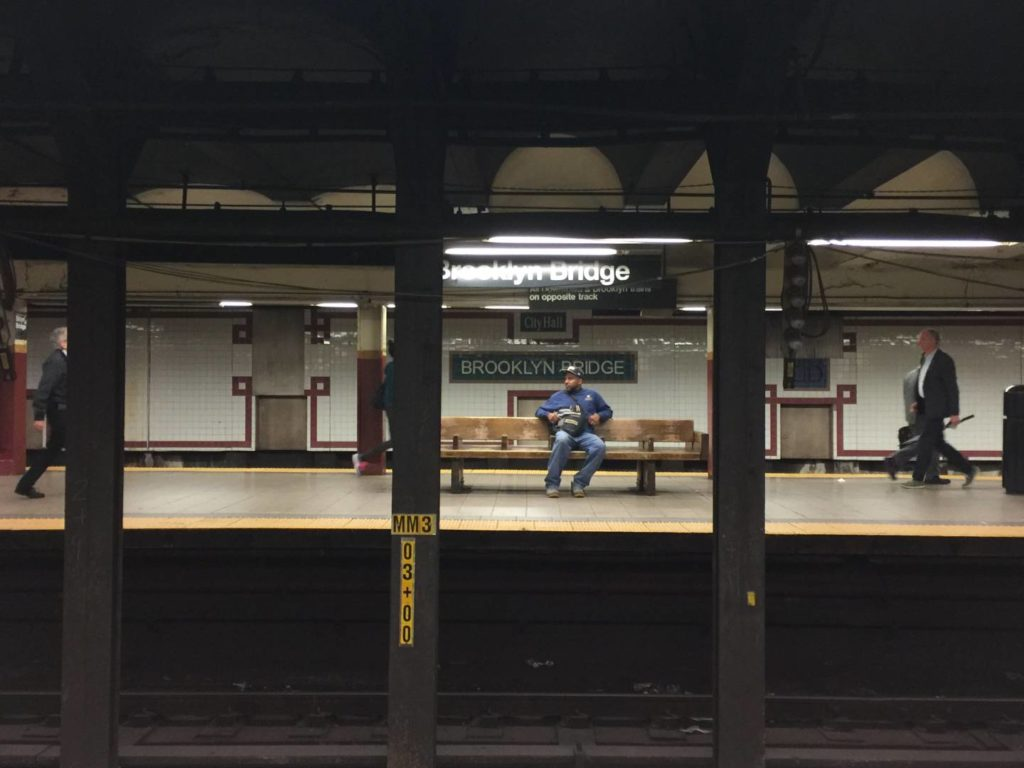 New York subway, moments