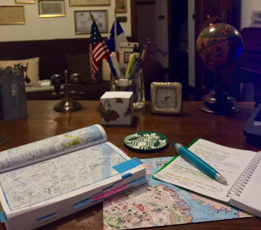 Organizzando un itinerario...