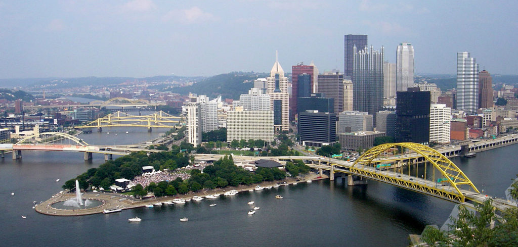 Pittsburgh vista dal Mount Washington