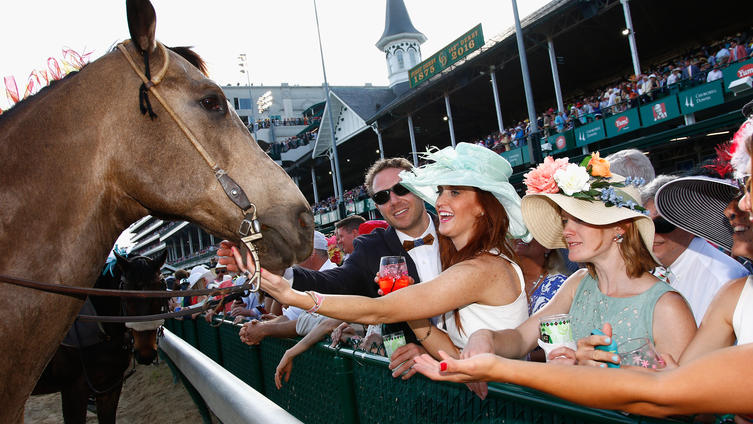 United States on the road: scenes from Kentucky Derby (Photo by Nichael Hickey/Getty images)