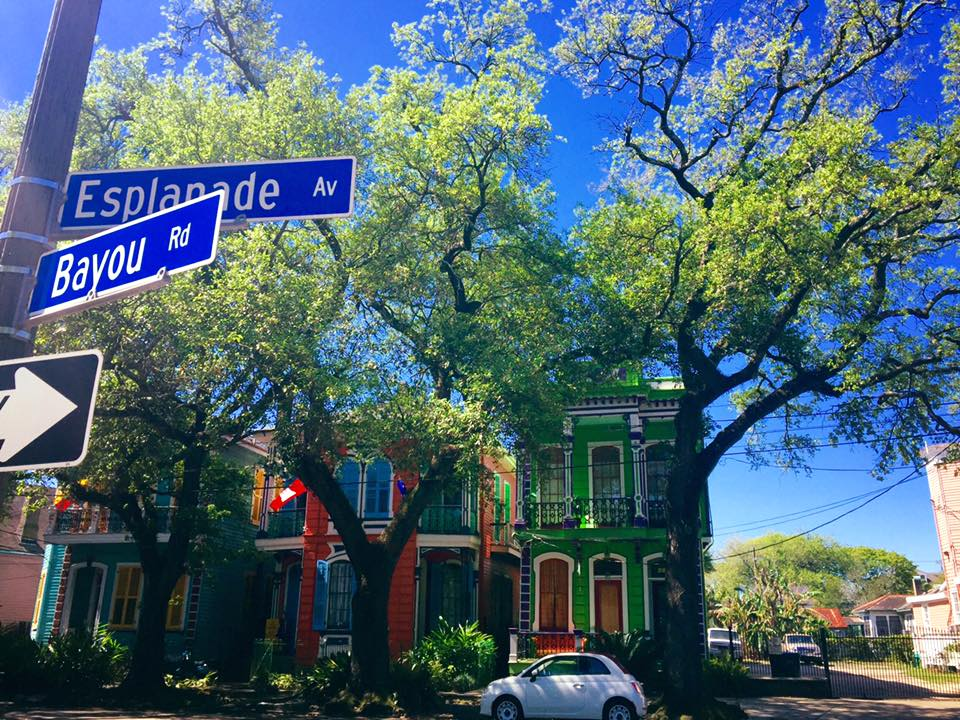 Discover New Orleans: the colors of Creole houses on Esplanade Ave