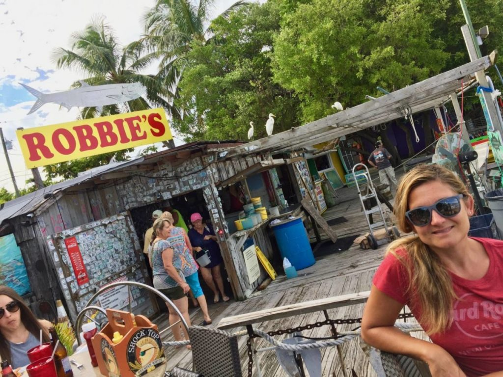 Discover the Florida Keys: a not to be missed stop for lunch at Robbie's Marina