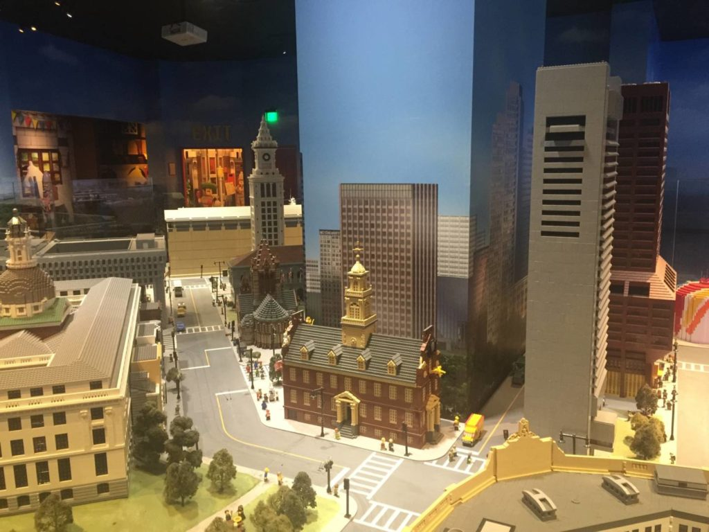 Boston downtown seen from Legoland