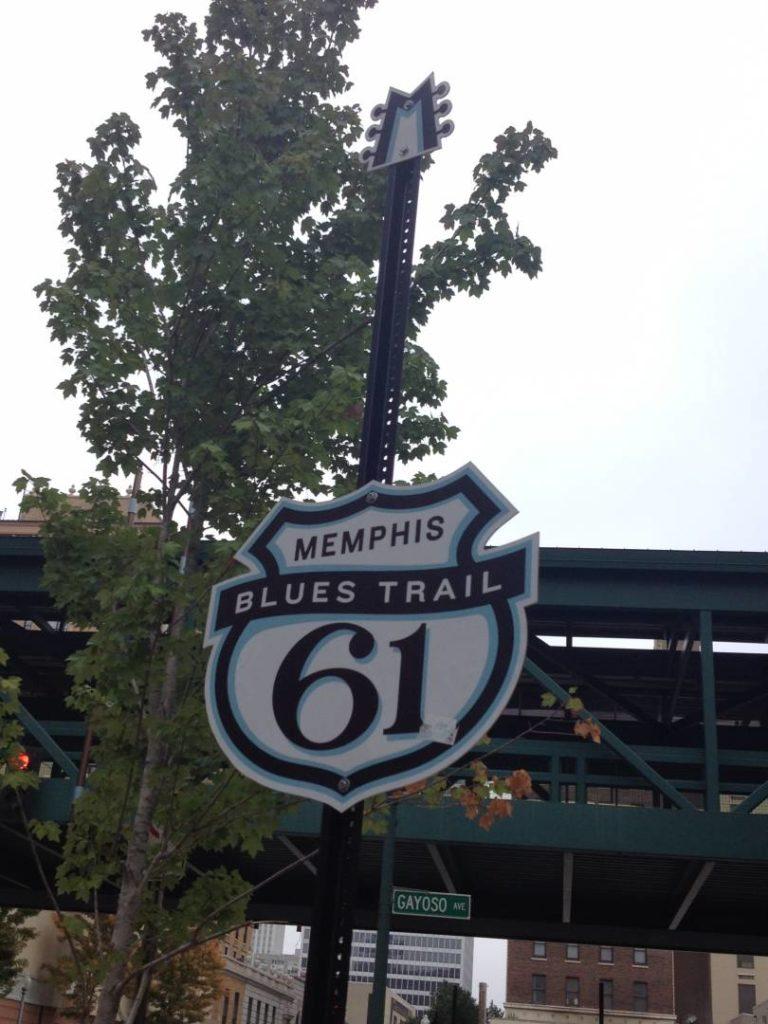 Il tratto del Blues Trail Hwy 61 che attraversa Memphis e che poi prosegue fino alla Louisiana